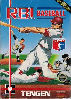 RBI baseball NES screenshot box cover