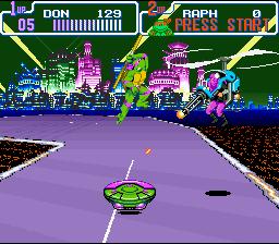 teenage mutant ninja turtles in time tmnt SNES screenshot