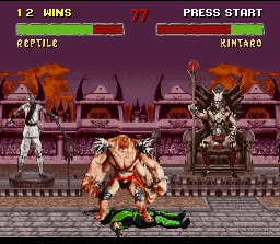 mortal kombat 2 snes screenshot kintaro