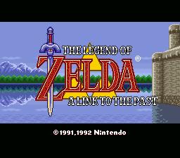 legend of zelda link to the past snes title screenshot
