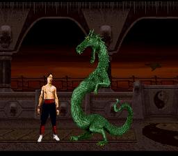 mortal kombat 2 snes screenshot dragon liu kang johnny cage kombat zone