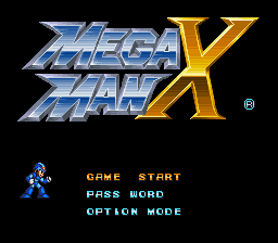 mega man x screenshot title
