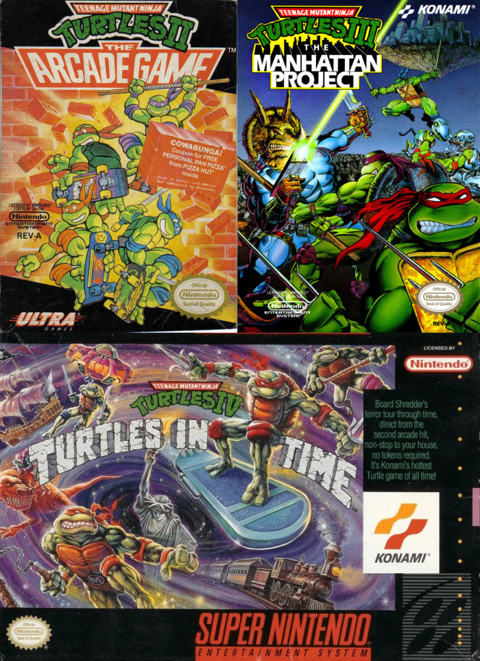 tmnt turtles video game box cover