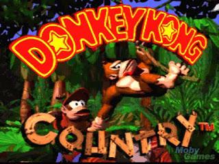 Donkey kong country title screen screenshot