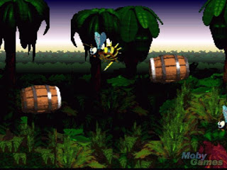 donkey kong country screenshot snes barrels