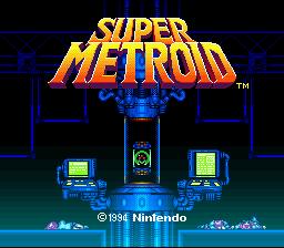 super metroid screenshot snes title screen