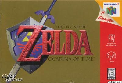 legend of zelda ocarina of time box cover