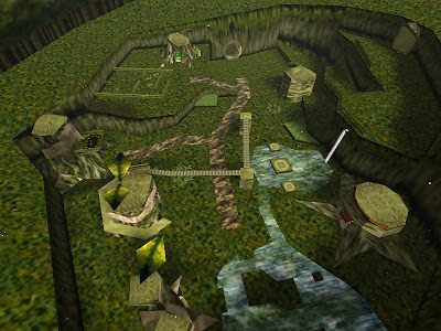 legend of zelda ocarina of time screenshot kokiri village