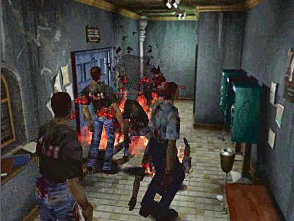 resident evil 2 screenshot zombies