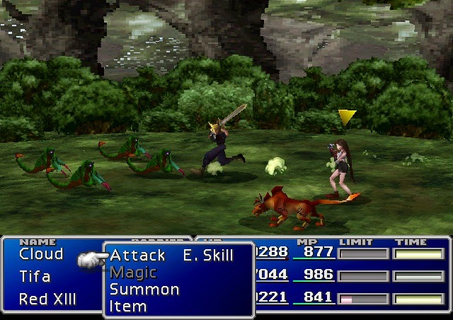 final fantasy 7 screenshot battle