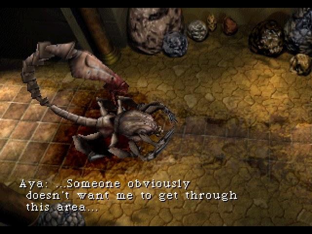 parasite eve screenshot scorpion
