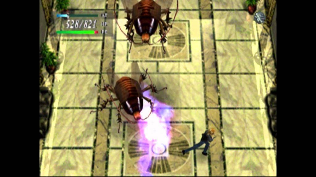 parasite eve screenshot battle cockroaches
