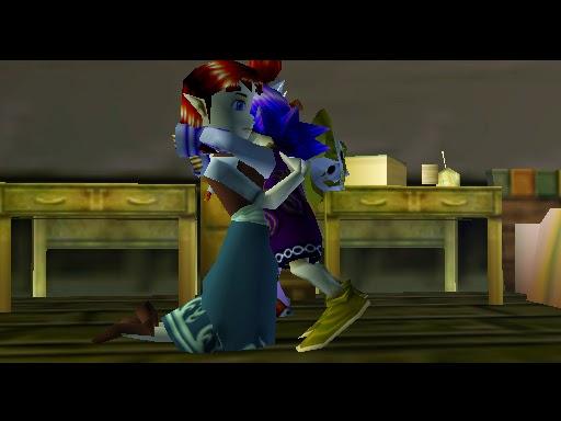 legend of zelda majora's mask screenshot kafei anju