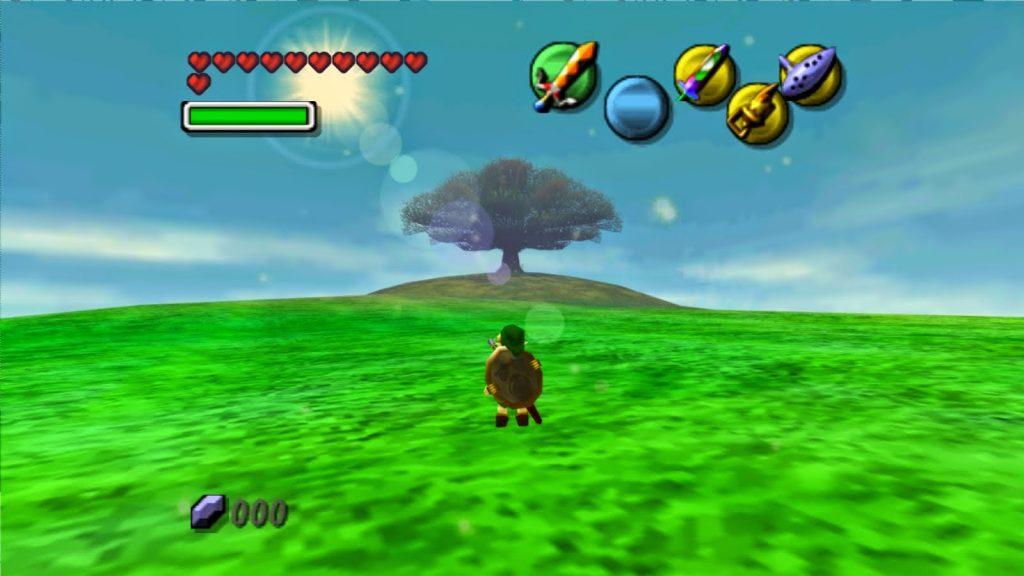 legend of zelda majora's mask screenshot moon field