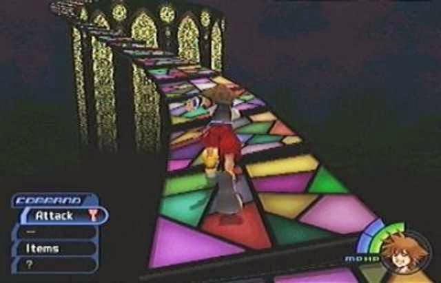 kingdom hearts screenshot stained glass