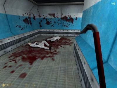 half life screenshot crowbar blood