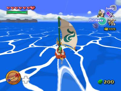legend of zelda wind waker screenshot ocean