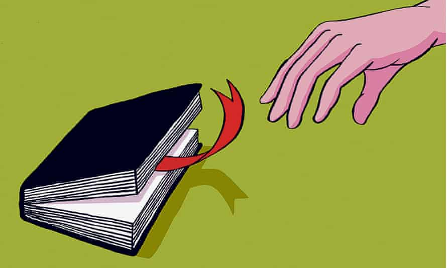reaching for book with tongue