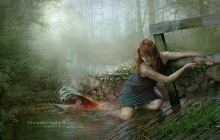 mermaid blood art changing