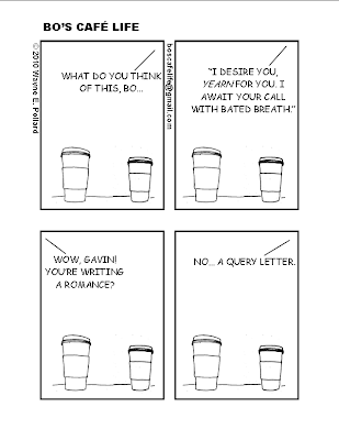 cartoon query letter coffee