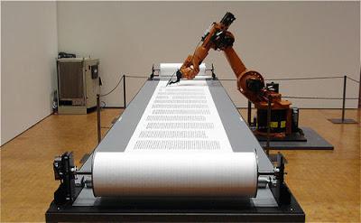 robot printing scroll