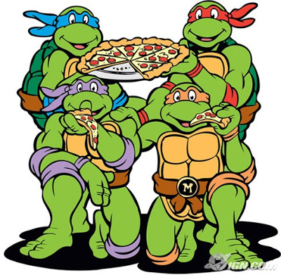 80's cartoon teenage mutant ninja turtles pizza