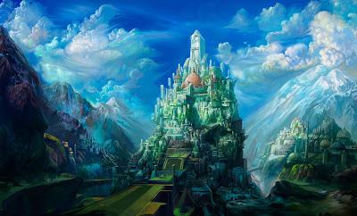 flower city fantasy castle