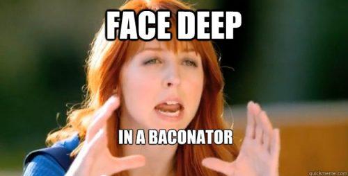 wendy's morgan smith goodwin face deep in a baconator
