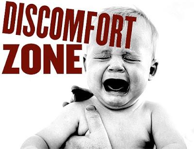 discomfort zone baby screaming