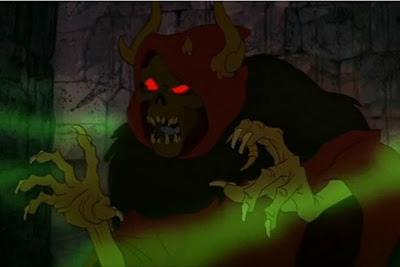 evilness horned king black cauldron
