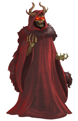 horned king black cauldron