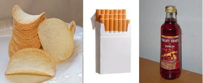 potato chips cigarettes beer