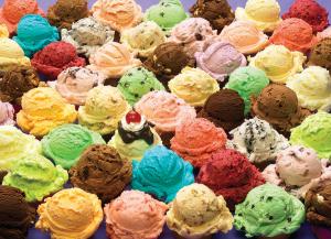 ice cream many flavors