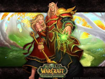 world of warcraft wallpaper elf couple
