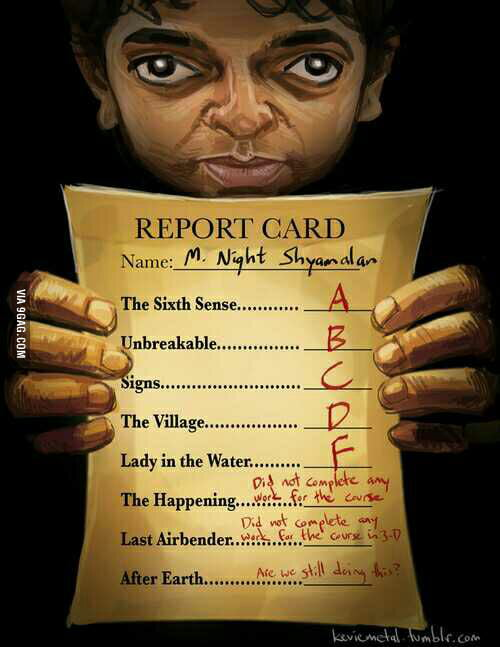 m night shyamalan report card movies
