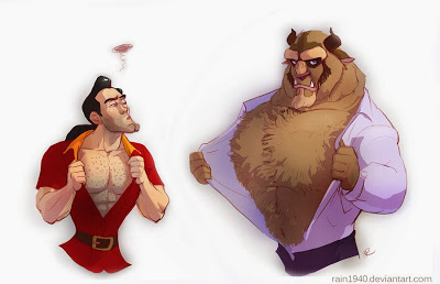 beauty and the beast complement gaston
