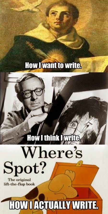 how i want to think i write
