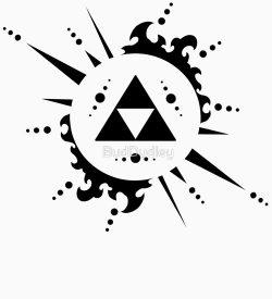 zelda logo triforce splatter