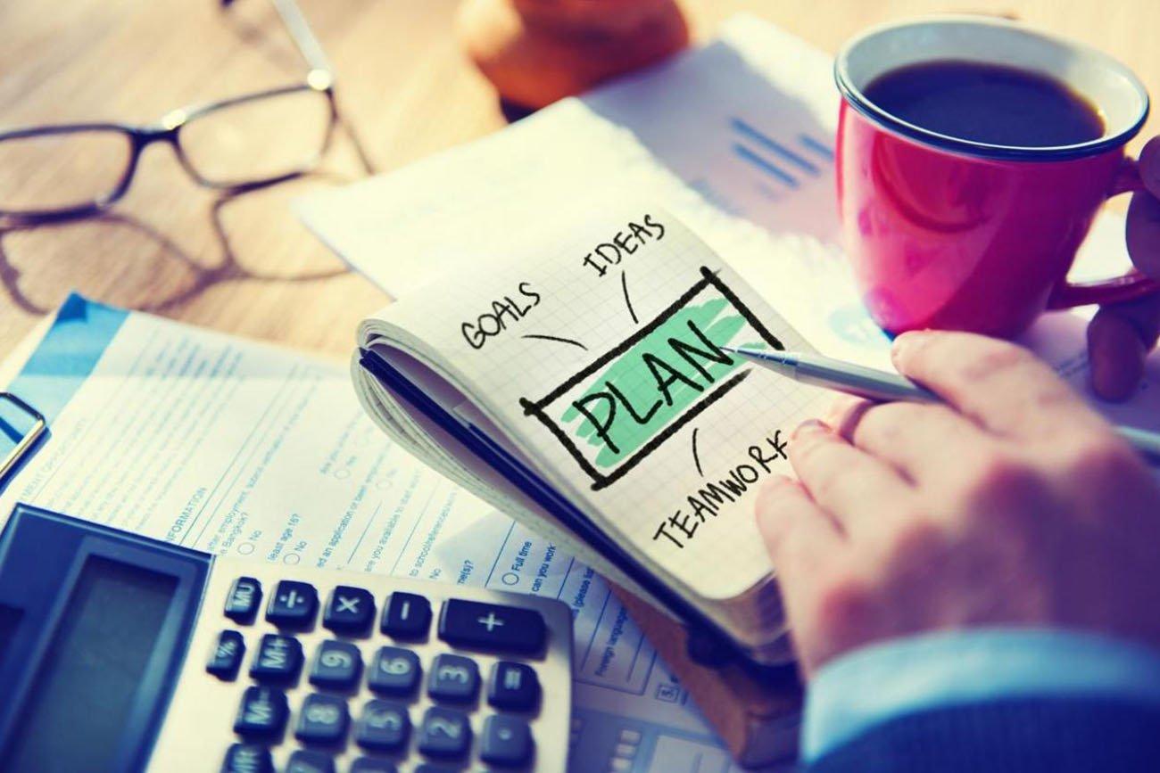 notepad of ideas plan goals