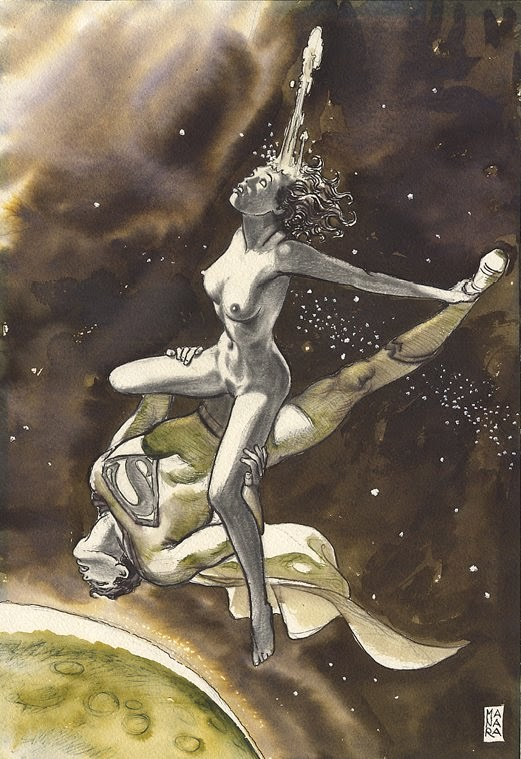 superman wonder woman sex in space