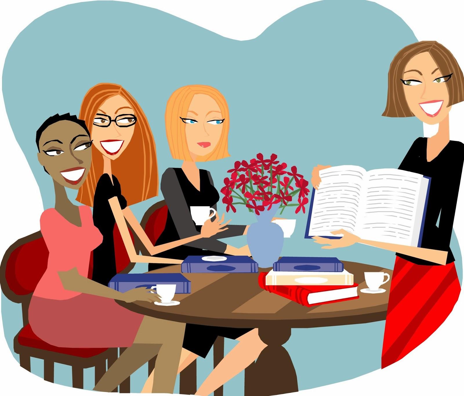 book club cartoon women