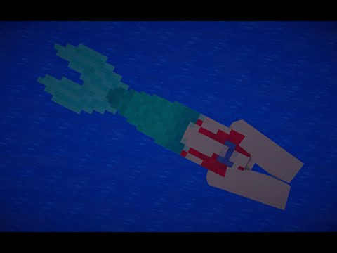 mermaid minecraft blocky pixels
