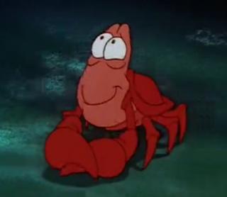 sebastian the crab little mermaid sheepish