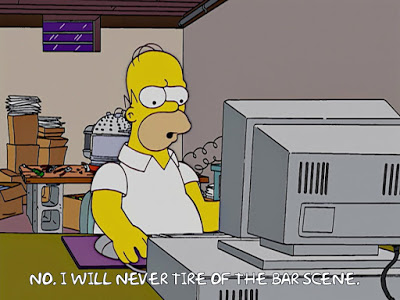homer simpson computer i will never tire of the bar scene