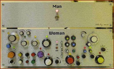 man woman control panel buttons