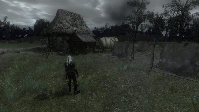 witcher 1 dingy landscape houses
