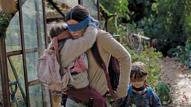 bird box sandra bullock blindfold