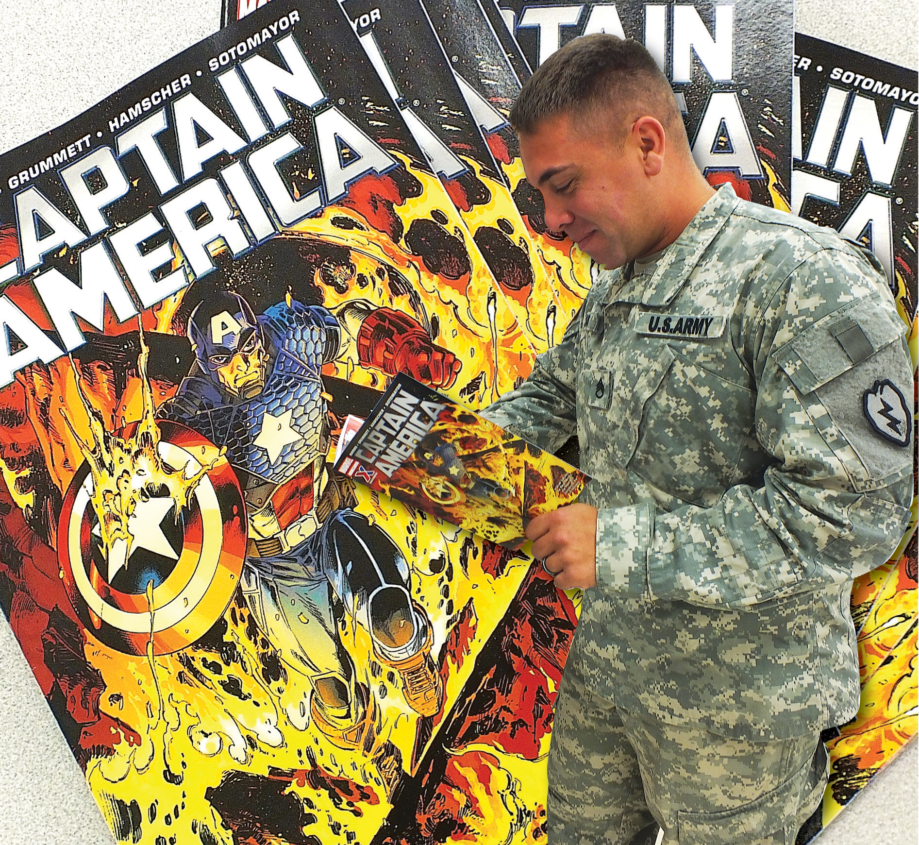 captain america comic book army military