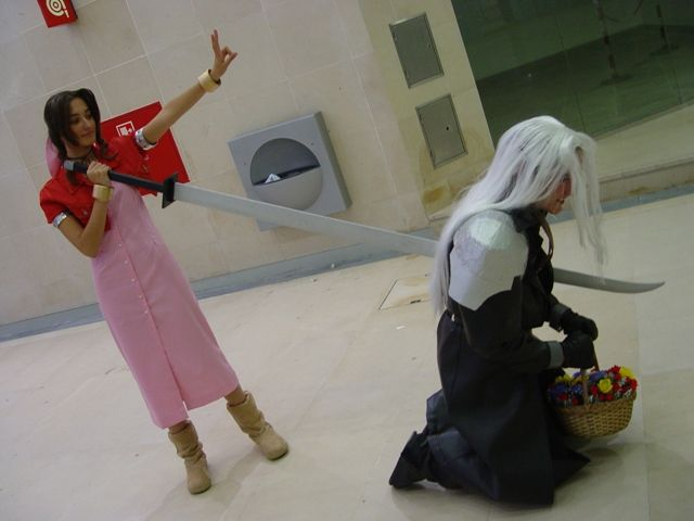 aeris stabs sephiroth final fantasy 7