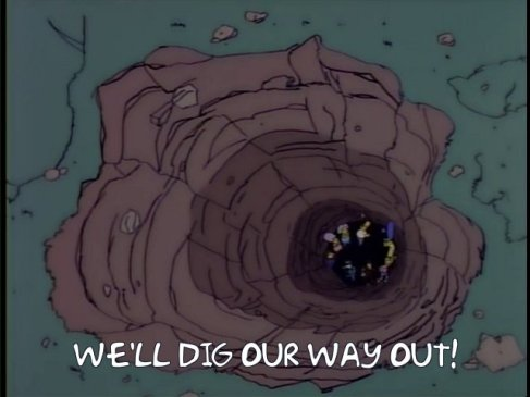 simpsons dig hole